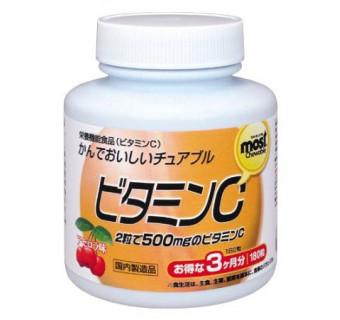 Витамин С жевательные драже со вкусом ацеролы на 90 дней (восстанавливает количество аскорбиновой кислоты в организме)