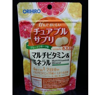 Orihiro: мультивитаминный комплекс с содержанием полезных минералов, жевательные конфеты с цитрусовым ароматом для укрепления им