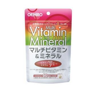 Витаминно-минеральный комплекс ORIHIRO (12 витаминов и 7 минералов)