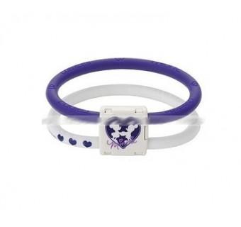 Colantotte магнитный браслет Purple Disney Minny размер м (снимает напряжение и усталость в мышцах)