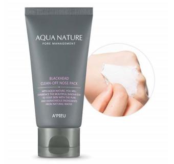 Маска-пленка APIEU Aqua Nature Blackhead Clean-Off Nose Pack,50ml (очищающая)