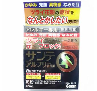 Японские капли для глаз Santen Alfree (при аллергии, снимают зуд и отечность)