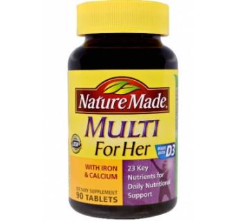 Мультивитаминный комплекс для женщин (с кальцием и железом + витамин D 3)